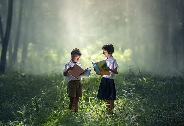 četba v lese